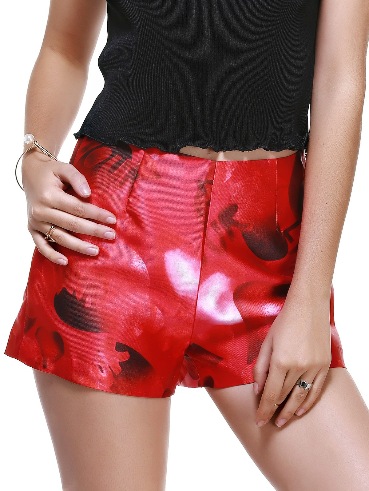 Shop Fashionable High-Waisted Printing Slimming Shorts For Women