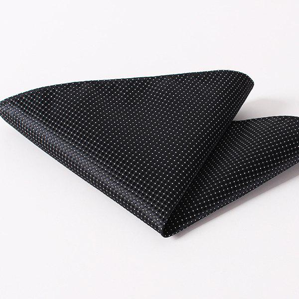 Outfit Stylish Small Checkered and Dots Pattern Wedding or Party Business Suit Pocket Square For Men