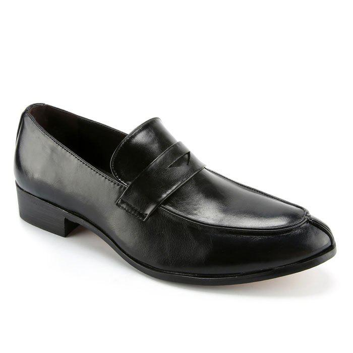 Fancy Concise Solid Colour and PU Leather Design Formal Shoes For Men