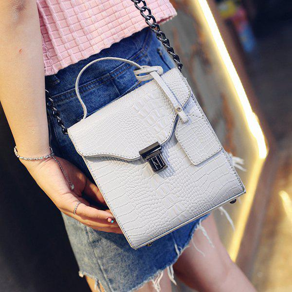 Fashion Sweet Crocodile Print and Hasp Design Tote Bag For Women