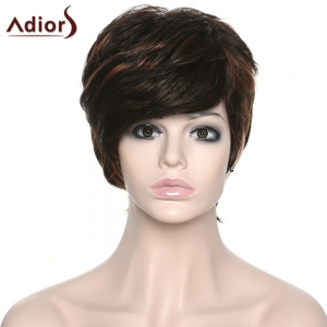 Shaggy Women's Side Bang Adiors Synthetic Boy Cut Wig -