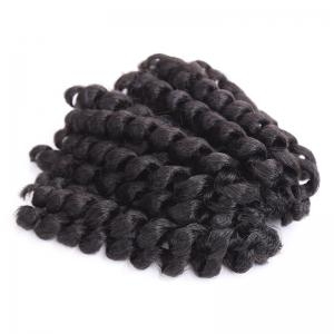 Boutique Short Curly Braid Synthetic Hair Extension For Women - #1b