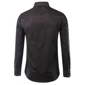 Casual Long Sleeves Flag Printed Turn Down Collar Shirts For Men -