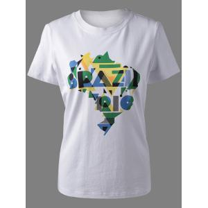 Stylish Women's Amazon Rive Print T-Shirt