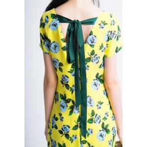 Flower Print Back Tie Dress -
