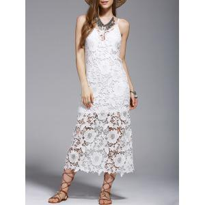 Crochet See-Through Lace Cover Up Dress