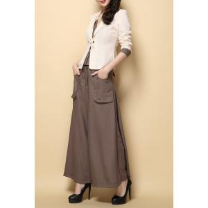 Blazer and Wide Leg Pants with Pockets -