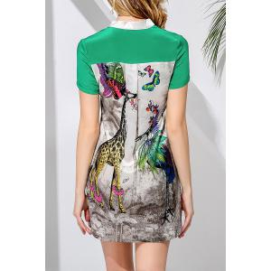 Sheath Giraffes Print Dress -