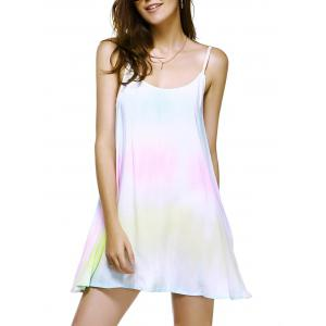 Fashionable Printing Weave Spaghetti Strap Dress For Woman