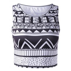 Chic Women's Tribal Print Tank Top - COLORMIX S