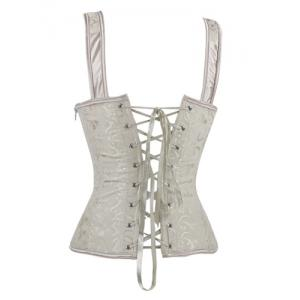 V-Neck Lace Up Corset -