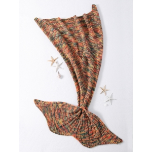 High Quality Mixed Color Knitted Mermaid Tail Design Blankets -