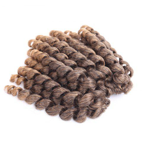 Latest Exotic Mixed Color Curly Braid Synthetic Short Hair Extension COLORMIX