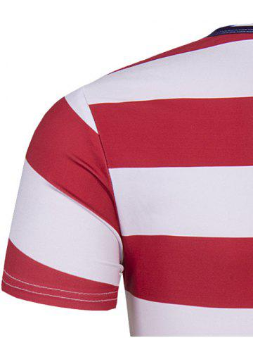Round Neck The Stars and The Stripes Print Short Sleeve T-Shirt For Men от Rosegal.com INT