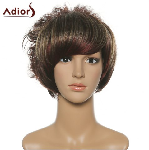 Store Shaggy Women's Adiors Short Side Bang Synthetic Wig COLORMIX
