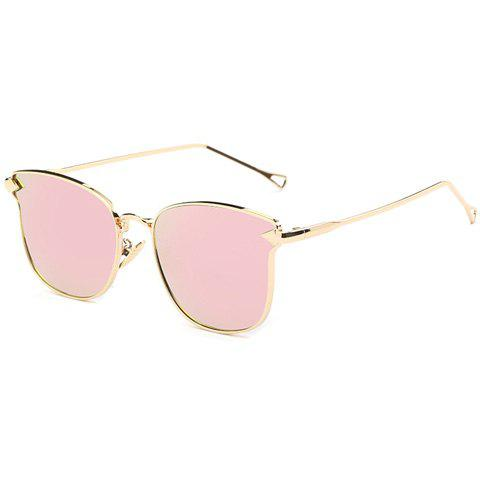 New Stylish Classic Flash Lens Metal Golden Cat Eye Mirrored Sunglasses For Women PINK