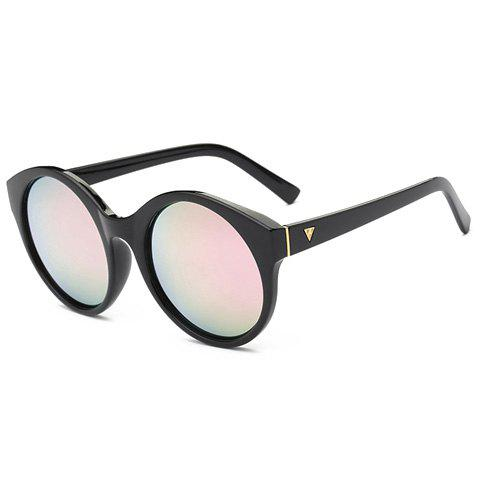 Shops Stylish Round Flash Lens Updated Black Mirrored Sunglasses For Women