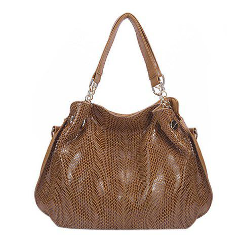 Outfits Fashion Solid Color and Snake Print Design Tote Bag For Women