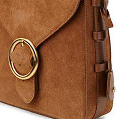 Shop Leisure Buckle and Brown Design Crossbody Bag For Women - BROWN  Mobile