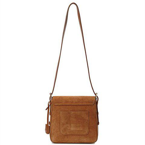 Store Leisure Buckle and Brown Design Crossbody Bag For Women - BROWN  Mobile