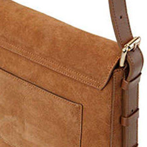 Hot Leisure Buckle and Brown Design Crossbody Bag For Women - BROWN  Mobile