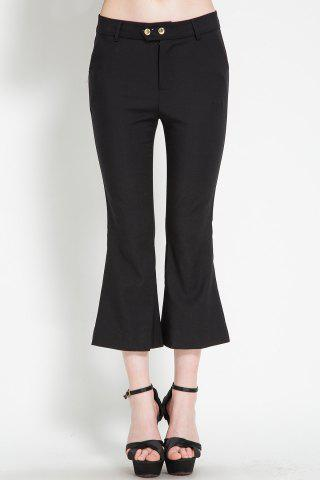 Outfit Pure Color Boot Cut Pants