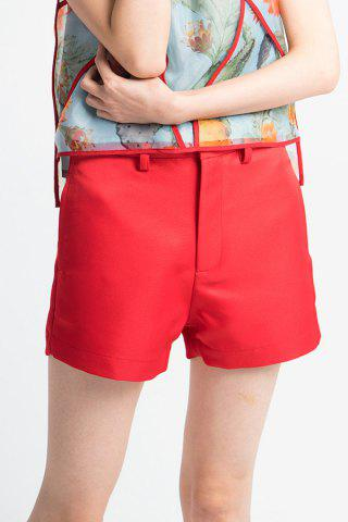 Unique Mid Rise Zip Shorts
