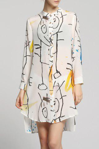 Shop High-Low Printed Shirt Dress