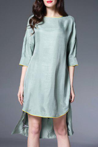 Fancy Crane Embroidered High Low Dress