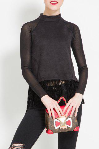 New Fringed Pure Color Blouse