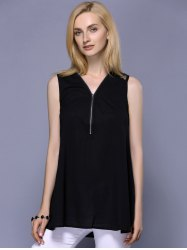 Fashionable V-Neck Lace Panelled Top For Women -