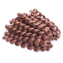 Boutique Short Curly Braid Synthetic Hair Extension For Women - AUBURN BROWN #30