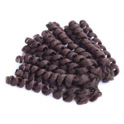 Boutique Short Curly Braid Synthetic Hair Extension For Women - DARK AUBURN BROWN