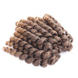 Exotic Mixed Color Curly Braid Synthetic Short Hair Extension