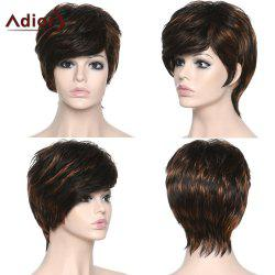 Shaggy Women's Side Bang Adiors Synthetic Boy Cut Wig