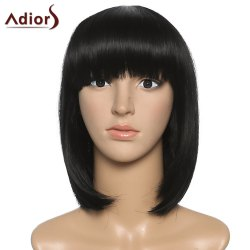 Fashion Women's Full Bang Adiors Synthetic Medium Bob Wig