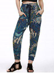 Printed Jogger Beach Pants - COLORMIX L