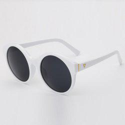 Stylish Round Flat Lens Solid Color Frame Up-To-Date Sunglasses For Women