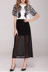 Zebra Print Tee and Sheer Skirt -