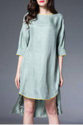 Crane Embroidered High Low Dress -