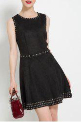 Pure Color Sleeveless Party Dress -