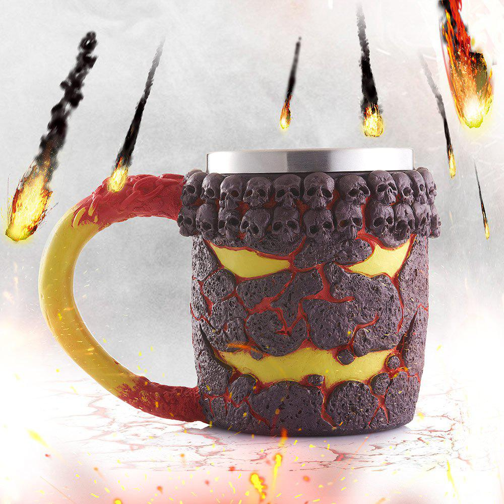Shop 15OZ Creative Halloween Magma Monster Pattern Beer Cup For Bar Festive Decoration