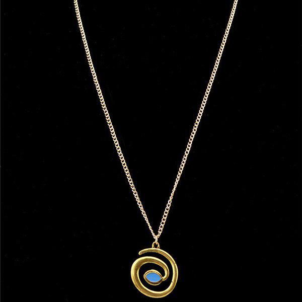 Stylish Snake Shape Pendant Necklace For WomenJEWELRY<br><br>Color: GOLDEN; Item Type: Pendant Necklace; Gender: For Women; Style: Trendy; Shape/Pattern: Animal; Weight: 0.030kg; Package Contents: 1 x Necklace;
