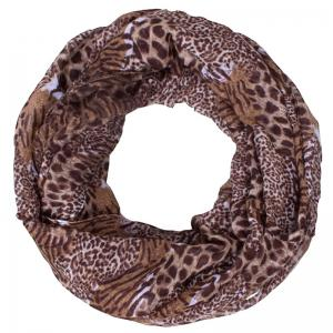 Stylish Wild Leopard and Tiger Stripe Print Voile Scarf For Women -