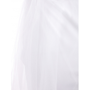 Sexy Halter Plunging Neckline Sleeveless Muilt-Layered Ball Gown Dress For Women -