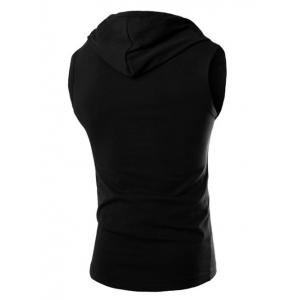 Casual Hooded Solid Color Tank Top For Men -