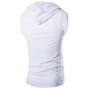 Casual capuche Solid Color Tank Top For Men -