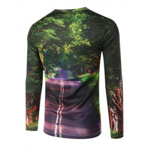 Slim Fit Round Collar Boulevard Printing T-Shirt For Men -