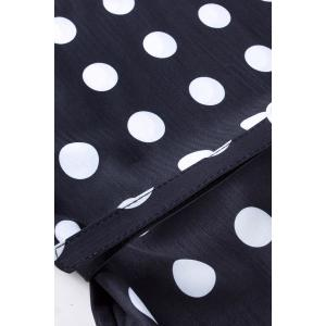 Sleeveless Polka Dot Printed Dress -