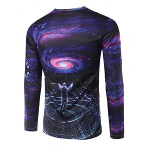 Slim Fit Round Collar Commander Printing T-Shirt For Men - COLORMIX 2XL
